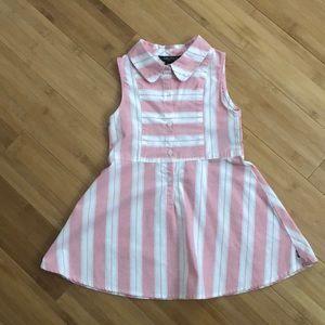 2 pc Nautica girls shirt dress - 24m